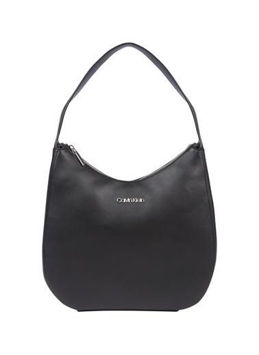 Calvin Klein Logolu Kadın Omuz Çantası Siyah